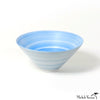 Hand Painted Wash Glaze Blue Porcelain Conical Bowls 3 size options
