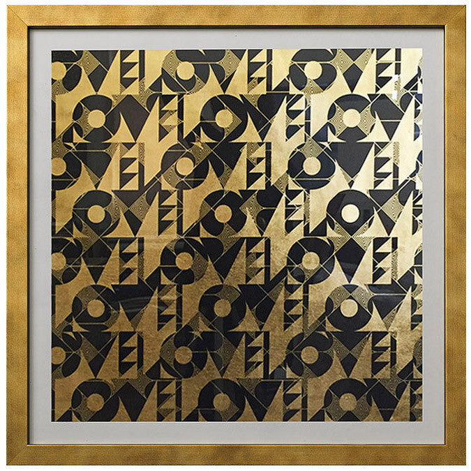 Framed Artwork Love and Arrows