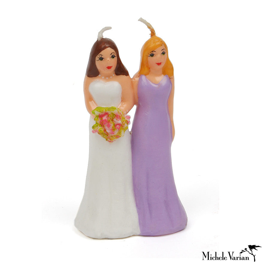 Female Couple Cake Topper Candle