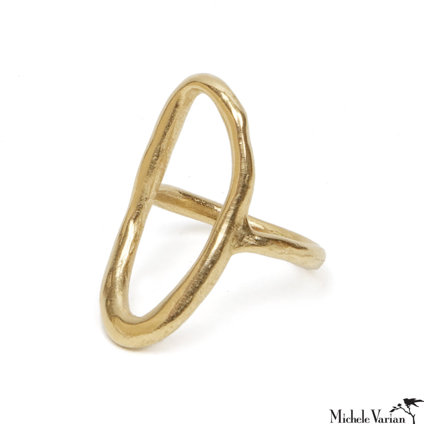 Hand Formed Bronze Lake Ring