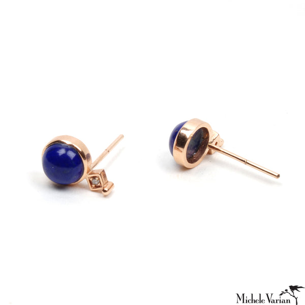 Art Deco Lapis Earring