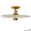 Discus Flush Mount Brass 14""