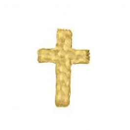 SINGLE Hammered Large Cross Stud