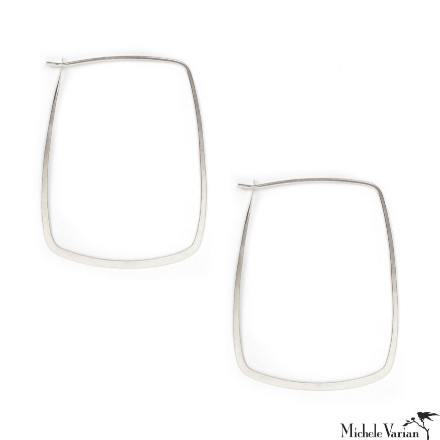 Square Sterling Silver Hoops
