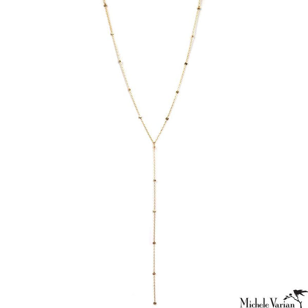 Gold Filled Lariat Eclipse Necklace