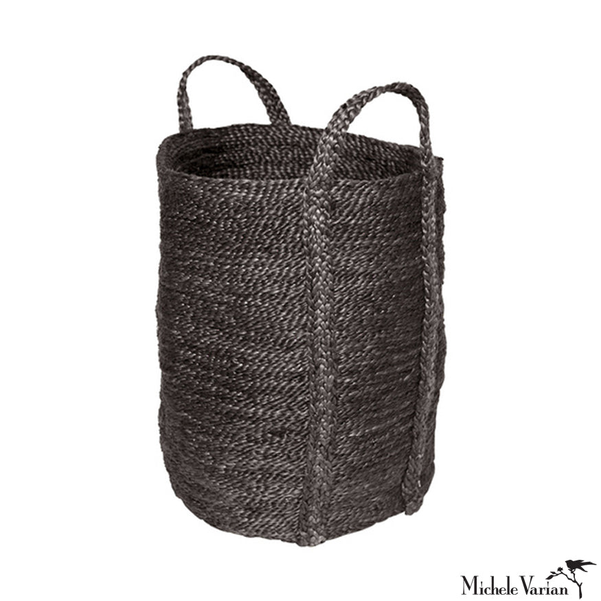 Jute Charcoal Laundry Basket