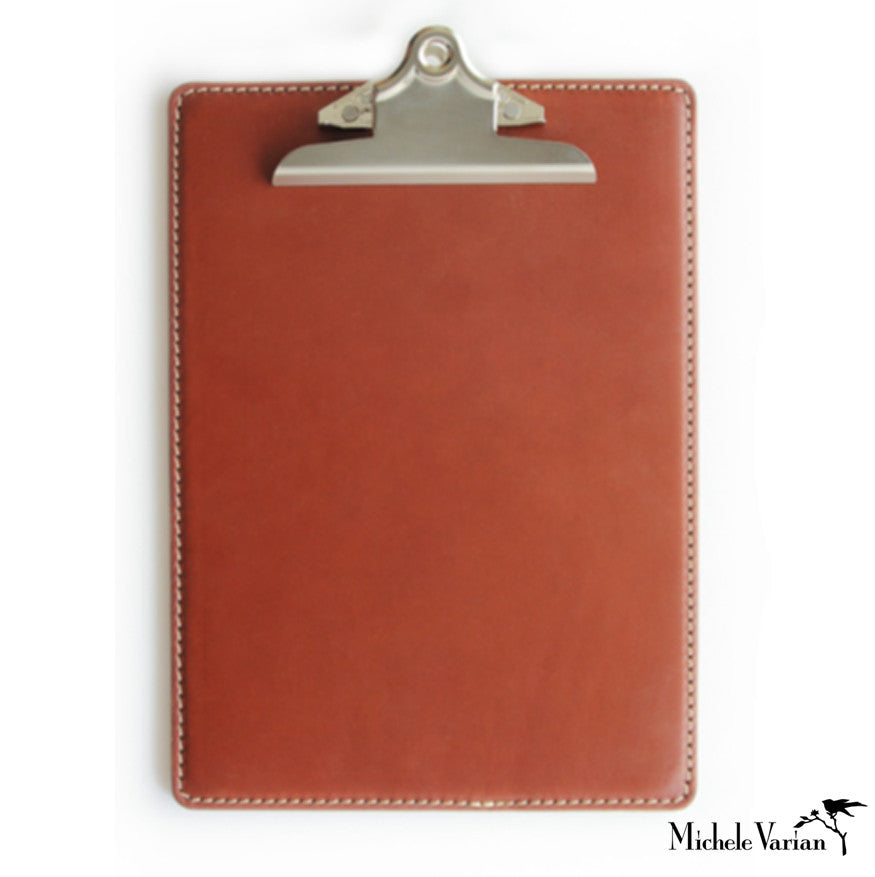 Leather Clipboard Brown