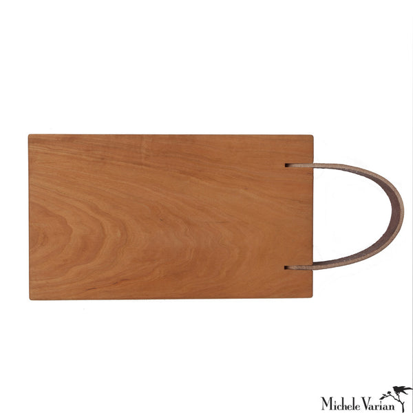 Leather Strap Cutting Board Cherry 8x14