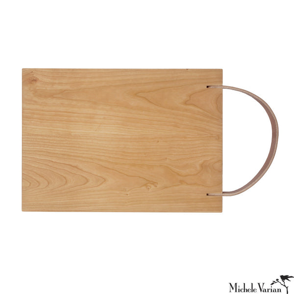 Leather Strap Cutting Board Maple 10x12