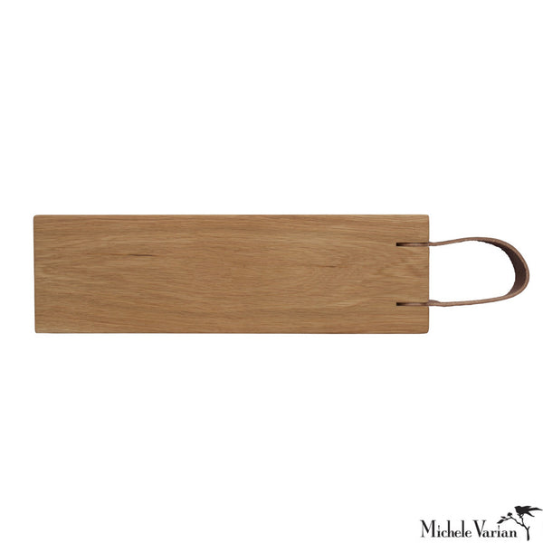 Leather Strap Cutting Board Oak 6x20