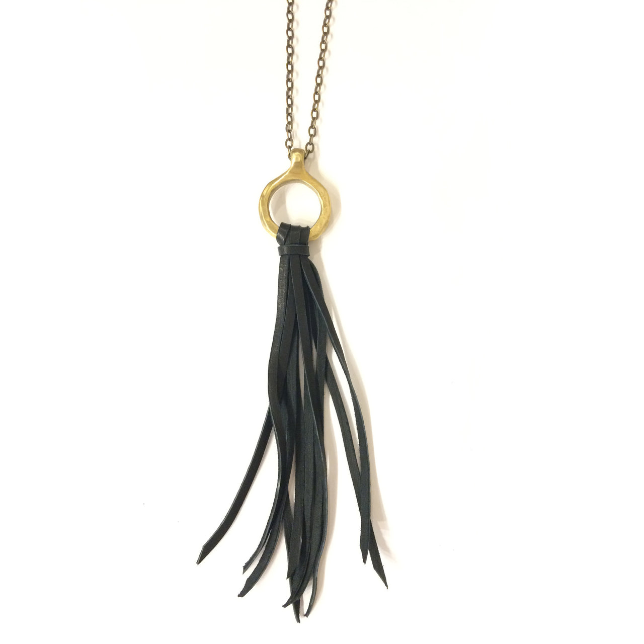 Brass and Leather Foxen Necklace