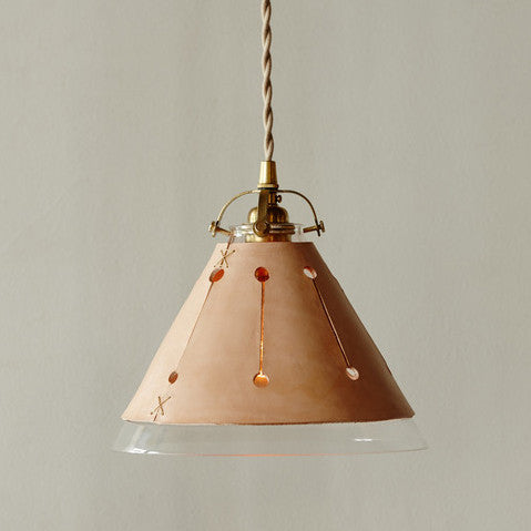 Leather Pendant Light Tan