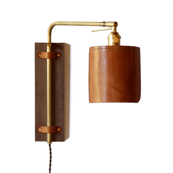 Leather Wall Sconce