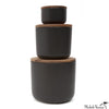 Lidded Containers - Black Stoneware