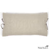 Printed Linen Pillow Starburst Plum 12x22