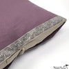 Solid Linen Pillow Mulberry 26x26
