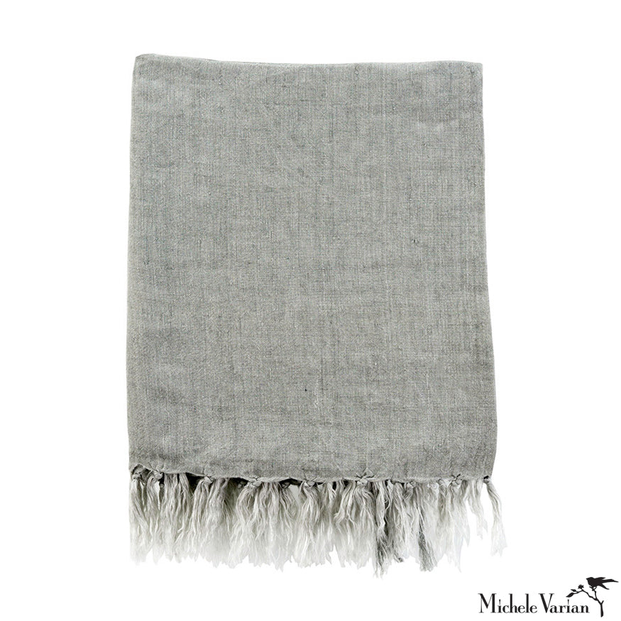 Linen Throw Grey