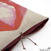 Printed Linen Pillow Lips 14x18