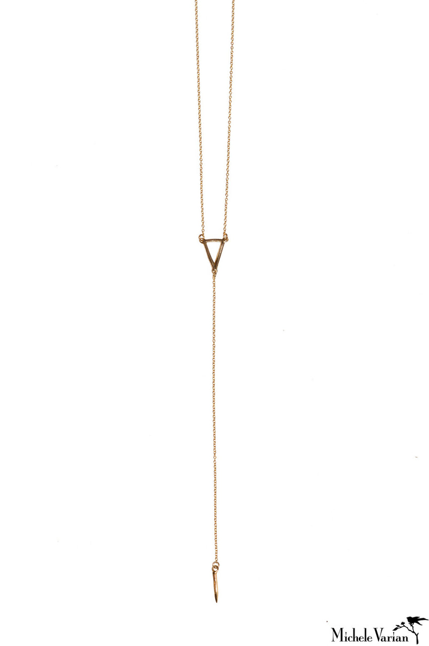 Triangle Drop Necklace