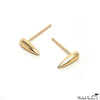 Long Gold Drop Stud Earrings