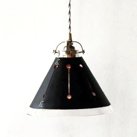 Leather Pendant Light Dark