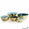 Brass Enamel Stacking Bowls in Mint, Pine or Peacock