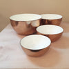 Copper and Creme Enamel Stacking Bowls
