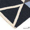 Blue Triangle Wool Area Rug