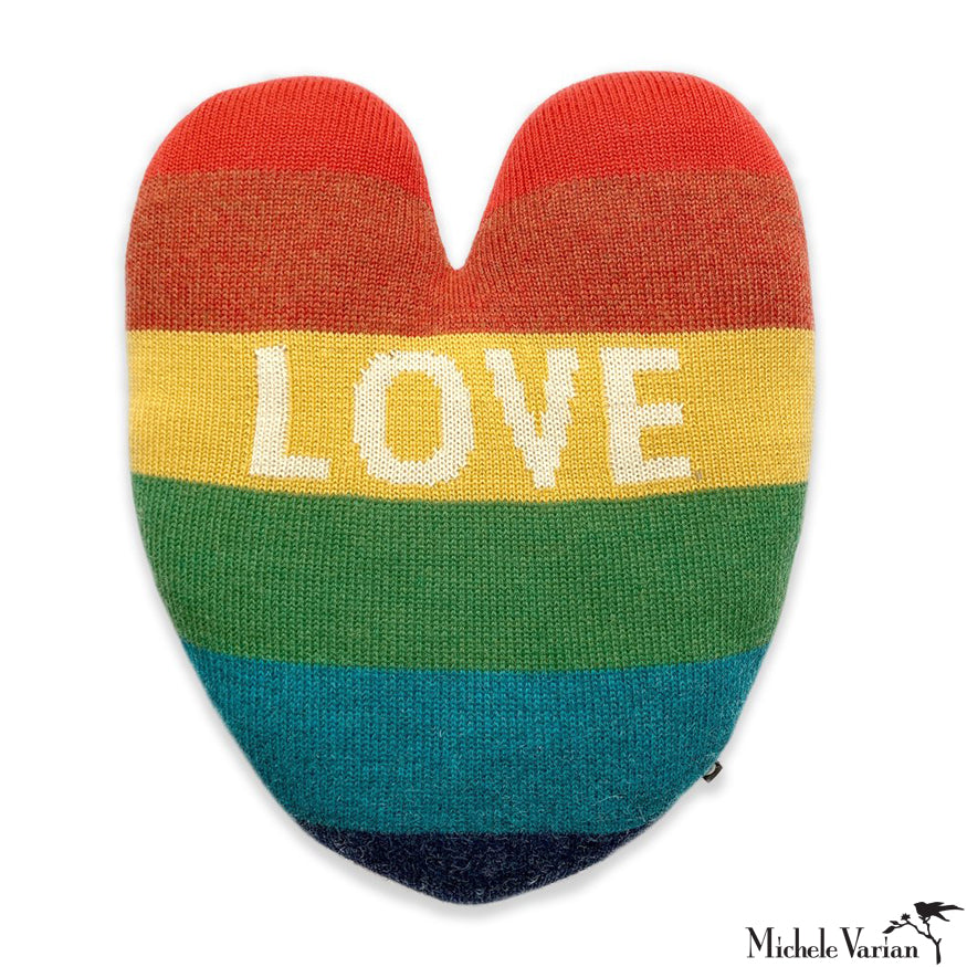 Heart Pillow Rainbow LOVE