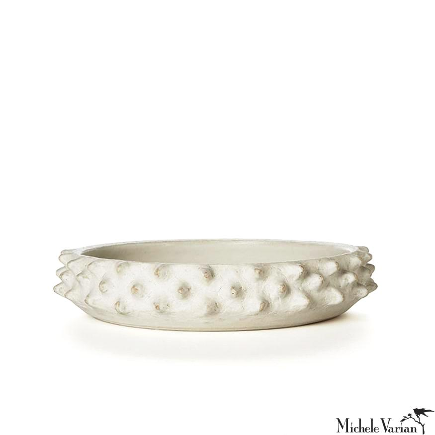 Low Matte Spiked Platter White