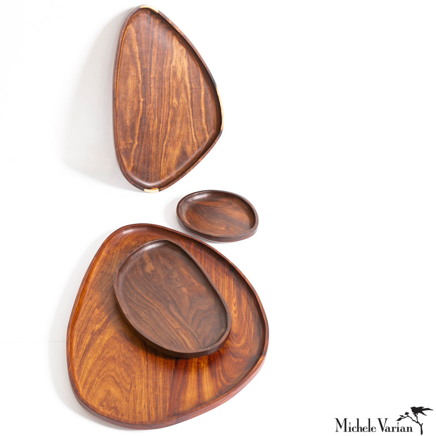 Exotic Hard Wood Oblong Trays