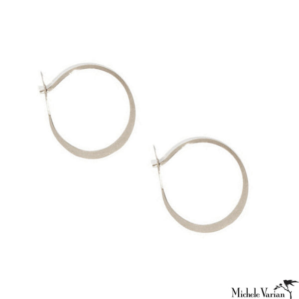 be3750ceff761c Medium Round Fordged Sterling Silver Hoops
