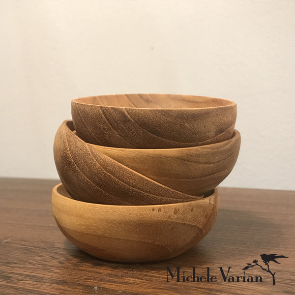 Mini Teak Bowls Set of 4
