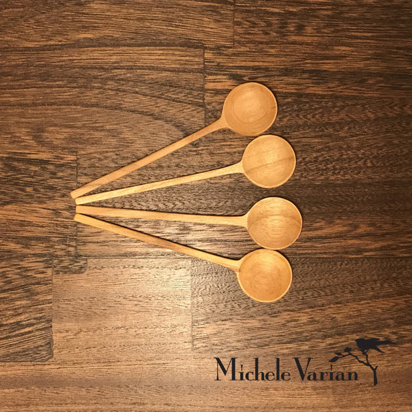 Mini Teak Spoons Set of 4