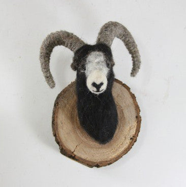 Felt Animal Wall Mount Winter Ram