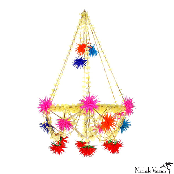 Colorful Yellow Star Pajaka Chandelier Medium