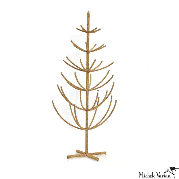 Beaded Gold Tree 36 inches tall
