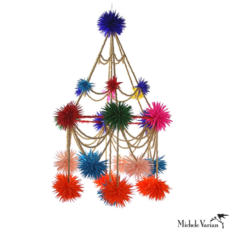 Colorful Beaded Pajaka Chandelier