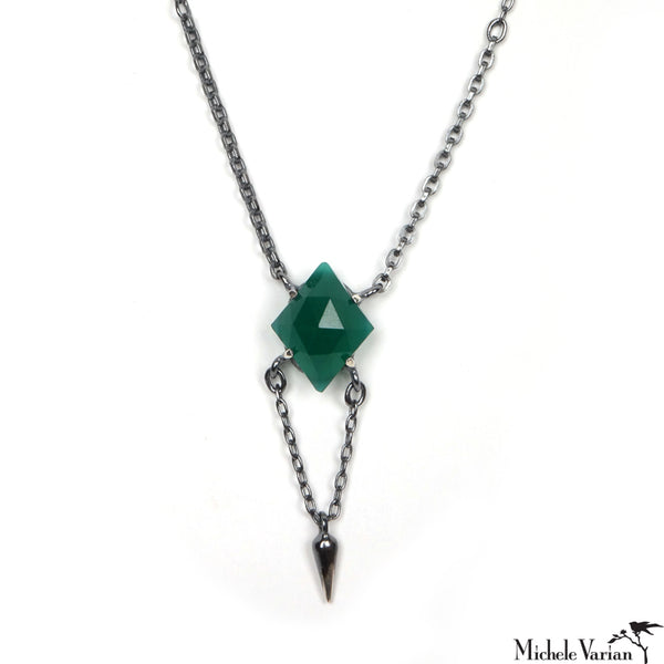 Green Onyx Y Necklace