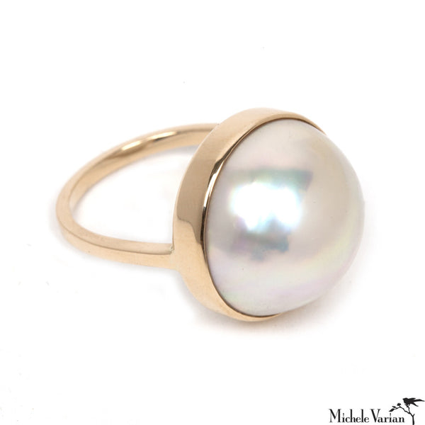 Giant Mabe Pearl Ring