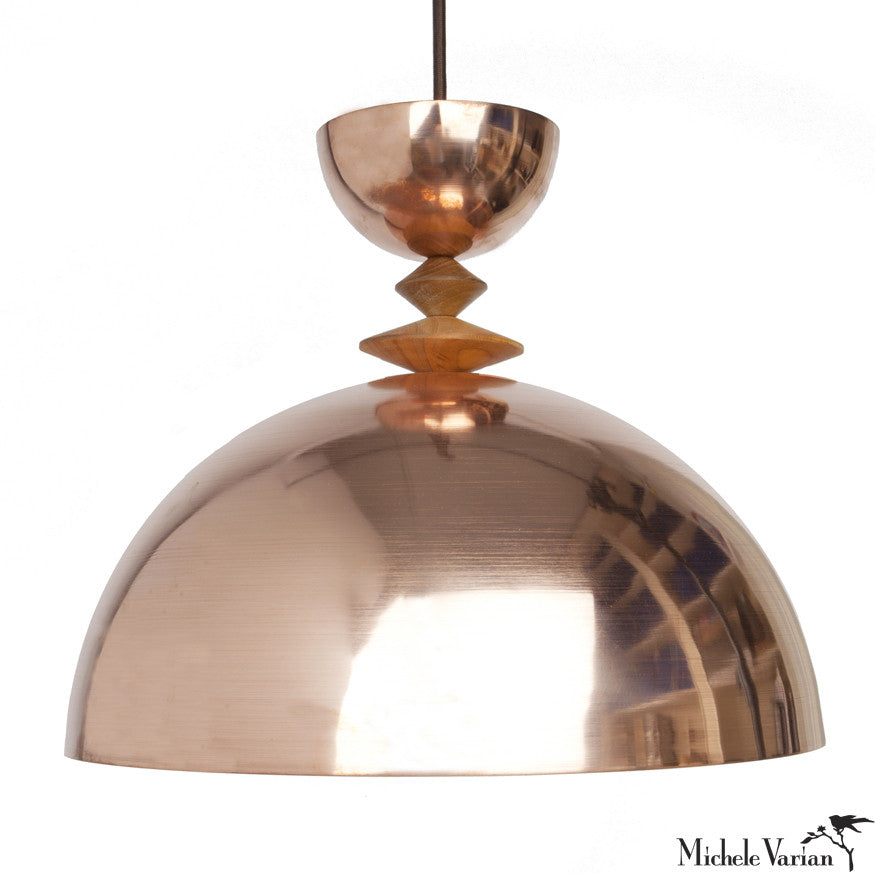 Mala Pendant Light No. 6 in Copper