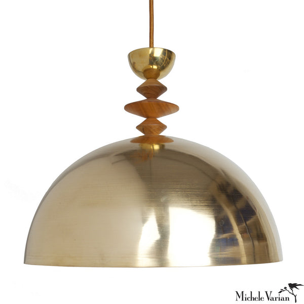 Mala Pendant Light No. 7 in Brass or Copper