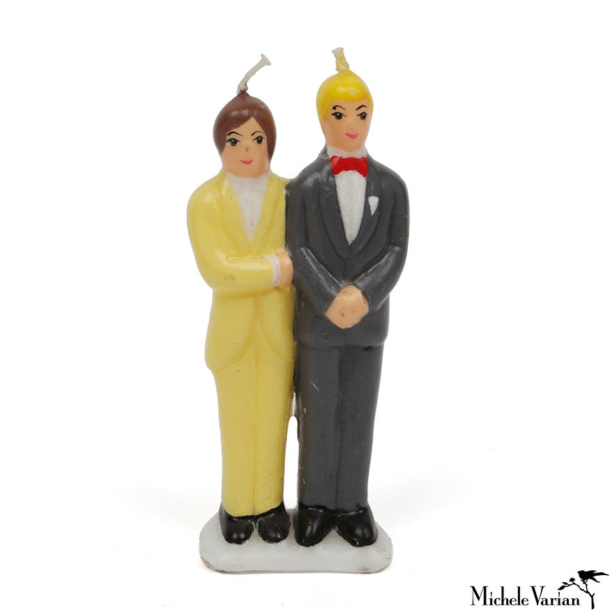 Male Couple Cake Topper Candle