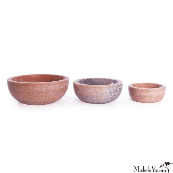 Pink Marble Stacking Bowls