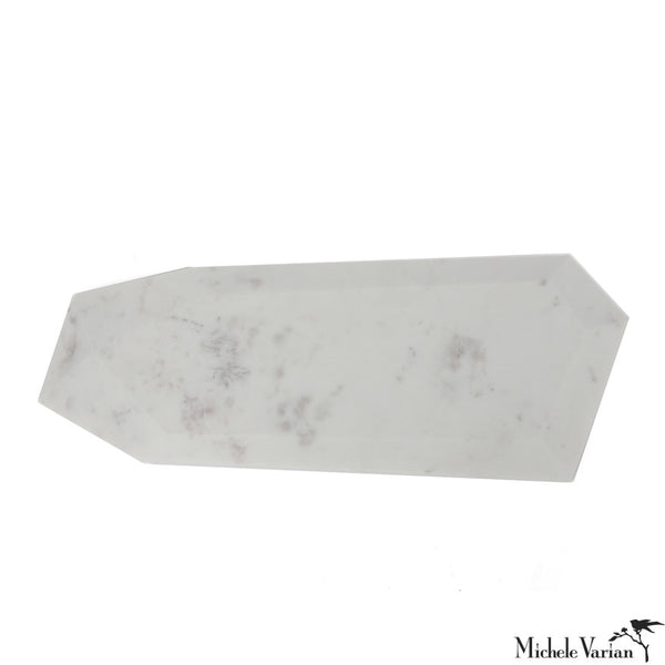 Faceted Marble Cheese Board Long