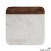 Marble and Wood Cheese Board Square