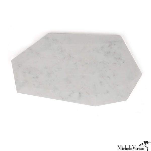 Faceted Marble Cheese Board Wide