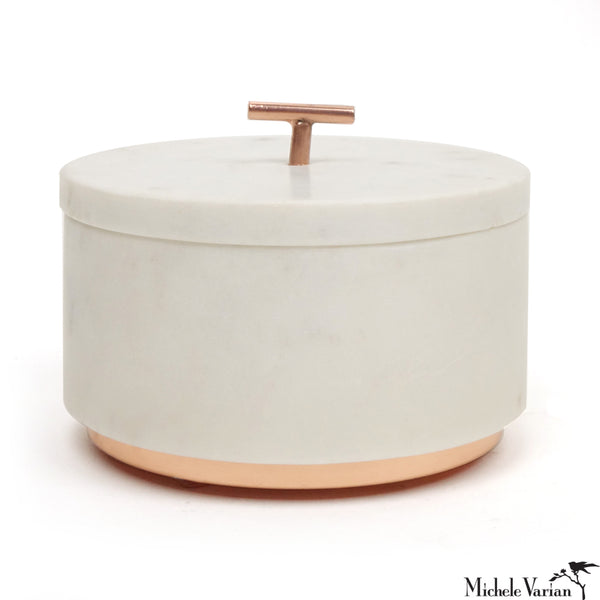 Marble and Copper Lidded Box