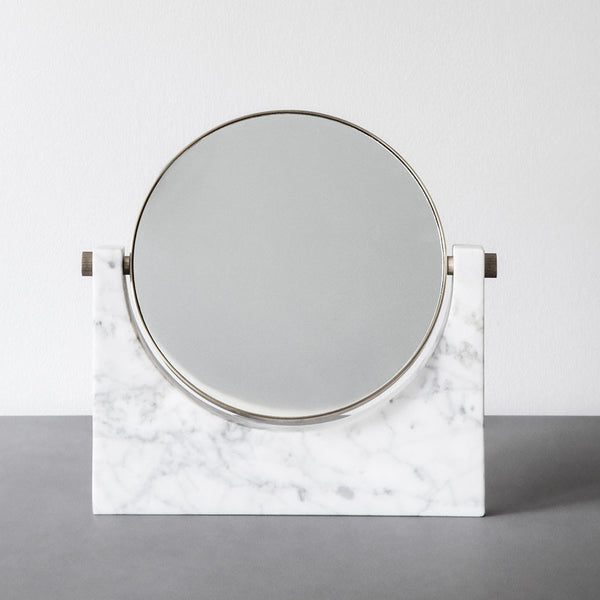 Marble and Brass Table Mirror