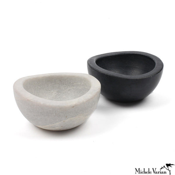 Marble Salt & Pepper Cellars Set of 2